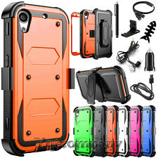 Shockproof Hybrid Armor Case + Belt Clip Holster Phone Cover for HTC Desire 530