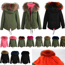 New Women jacket Warm coat cotton down Hooded 100% Real Fur Collar Winter Parka