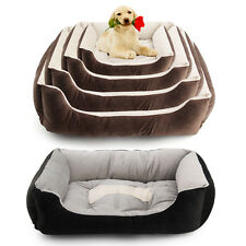 New Large Luxury Pet Dog Puppy Cat Bed Cushion Soft Warm Basket Comfy Bed 6 Size