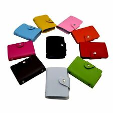 Unisex Pu Leather Box Pocket Business Bus Credit ID Bank Card Holder Case Wallet