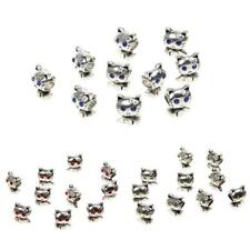 10Pcs Tibetan Cats Loose Beads Spacer Beads DIY Jewelry Making Findings Craft