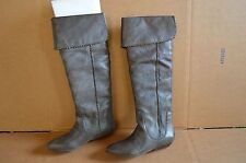 New in Box Lucky Brand Women's Gai Gray Leather Knee High Boots