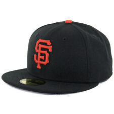 New Era 59Fifty San Francisco SF Giants Game Black Fitted Cap MLB AC OnField Hat