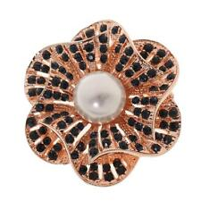 Vintage Alloy Flower Brooch Gold Plated Rhinestone Scarf Pins Jewelry Gift