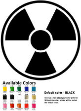 Radiation Symbol Vinyl Decal Sticker Car Wall Window Laptop Hazard