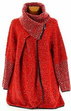 Coat cape boiled wool winter big size RED VIOLETTA red
