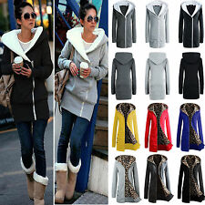 Fashion Womens Zipper Hooded Coat Outwear Winter Warm Long Parka Jacket Overcoat