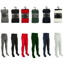 3 Pairs Girls Cotton Rich School Tights Age 2 - 9 10 11 12 Years Smart