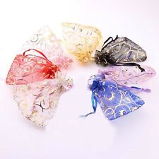 25/50/100 Organza Bags Wedding Candy Gift Jewellery Packing Pouches Bag 7x9cm