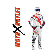 White Red 2017 Dirt Bike Answer Syncron Racing Gear Pants Jersey MX Off Road Atv
