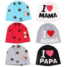 Cute Newbaby Kids Caps Infant Cotton Baby Hats Beanies Cap I LOVE MAMA/PAPA caps