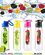 700/800ML FRUIT INFUSION INFUSING INFUSER WATER BOTTLE SPORTS TRITON PLASTIC 2 4