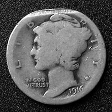 1916 Liberty (Mercury) Dime - Clipped Planchet - Medium Rare