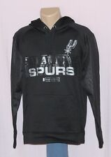San Antonio Spurs Hoodie Synthetic Hooded Sweatshirt Black - NBA