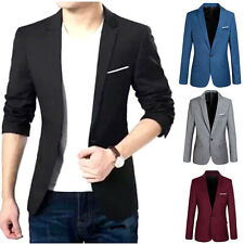 Fashion Men's Casual Slim Fit One Button Suit Blazer Stylish Coat Jacket Tops