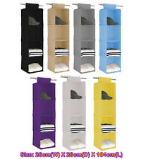 4 shelf Closet Hanging Organizer Wardrobe Storage Bin Bag Box Drawer c1