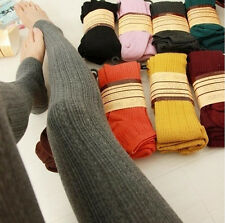 Women Thick Knitted Pantyhose Stockings Tights Warm Long Socks Stirrup Trousers