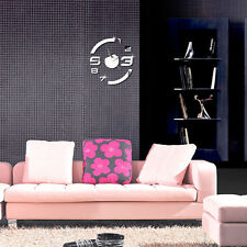 Stylish Removable 3D Mirror Wall Clock Decal Acrylic Room Office Wall Sticker