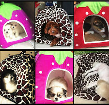 2016 New Cute Pet Bed House Strawberry Warm Soft Dog Cat Puppy Pad Cushion