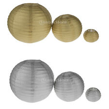 """4"""" 8"""" 12"""" Round Paper Lanterns Lamp Shade Wedding Party Xmas Home Decorations"""