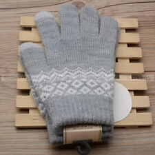 Easy Touch Screen Gloves Women Girl Stretch Knit Mittens Winter Warm Gloves