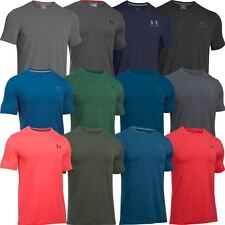 Under Armour 2017 Charged Cotton Sportstyle Left Chest Logo Mens Training Shirt
