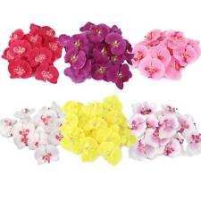 20pcs Artificial Silk Butterfly Orchid Flower Heads Buds Party Bridal Xmas Decor