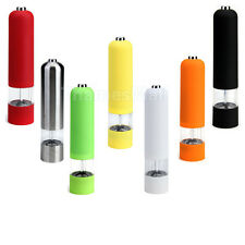 Kitchen Cooking Electric Pepper Spice Salt Mill Grinder Muller 7 Colors For Pick