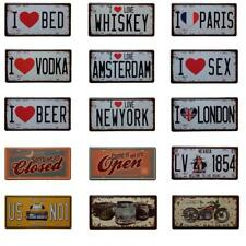 Vintage Metal Tin Sign Art Poster Plaque Bar Cafe Shop Home Wall Plate Decor