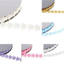 20yd Stars Garlands Ribbon Lace Trims for Wedding Supply Xmas Decor Sewing Craft