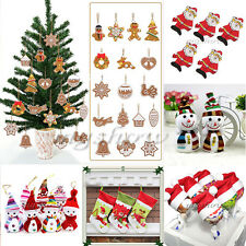 Snowflake Xmas Christmas Santa Claus Hanging Decoration Tree Ornament Animal New