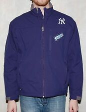 New York Yankees Mens Jacket All Weather Full Zip Softshell Navy - MLB Majestic