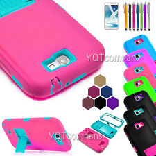 ShockProof Hard Rubber Protective Case Cover For Samsung Galaxy Note 2 II N7100