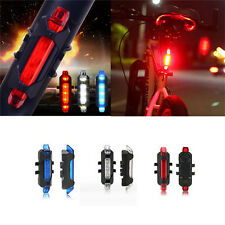 Rear Safety 5LED Bicycle Cycling Tail USB Rechargeable Red Warning Light Bike