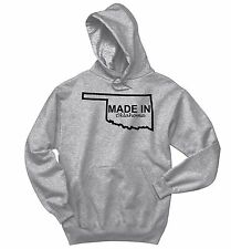 Made In Oklahoma Sweatshirt Funny Home State Pride Holiday Gift Hoodie