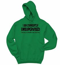 I'm Unsupervised Freaks Me Out Too Funny Sweatshirt Cute Holiday Gift Hoodie