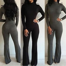 Womens Clubwear Playsuit Bodycon Club Party Jumpsuit Romper Trousers Long Pants