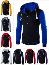 Men's Slim Fit Sweater Hoodie Cardigan Hooded Jacket Coat Sweatshirt Outwear gf