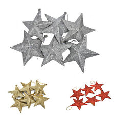 Glitter Stars Christmas Tree Decoration Xmas Party Hanging Ornament Decor FT