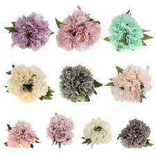 Simulation Fake 5 Head Peony Silk Flower Bouquet for Home Wedding Table Decor