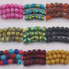 Lampwork Stained Glass Artists Czech Cracked Loose Round Craft Beads 4/6/8/10MM