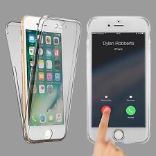 Ultra Slim Silicone Tpu Clear 360° Front + Back Cover Case For iPhone 7 Plus