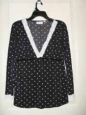 Polka Dot & Lace Maternity Top from Maternity Announcements-Sz Med