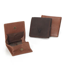 Vintage Cowhide Bull Genuine Leather Coin Change Purse Wallet Bag AS