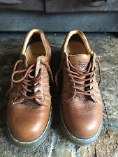 Dr Doc Martens Air Wair  Oxford Shoe Lace Up 12037 Brown Leather Women's Sz 9