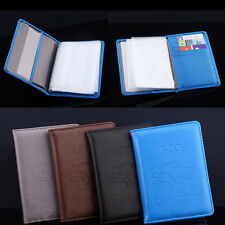 Russian Auto DriverPU Leather Car Driving Documents Card Holder Purse Wallet US