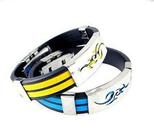 Bracelet Cuff Fashion US Bangle Line Men Stainless LO New Cool Steel Wristband
