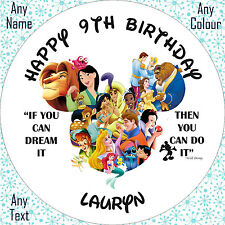 Disney Characters Montage Cake Cupcake Toppers Luxury Icing Wafer Paper Stickers
