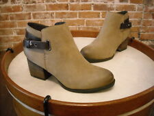 Sole Society Taupe Leather Angie Back Strap Detail Ankle Boot NEW