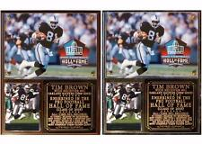 Tim Brown #81 Pro Football Hall of Fame Photo Card Plaque Oakland Raiders